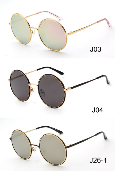 LAT-J32021 - Round Circle Oversize Polarized Sunglasses - Iris Fashion Inc. | Wholesale Sunglasses and Glasses