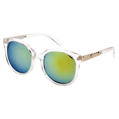 284 Round Horn Rimmed Sunglasses w/ Side Detail - Iris Fashion Inc. | Wholesale Sunglasses and Glasses