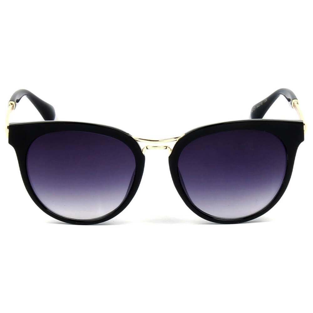 262 Round Keyhole Bridge Horn Rimmed Sunglasses - Iris Fashion Inc. | Wholesale Sunglasses and Glasses