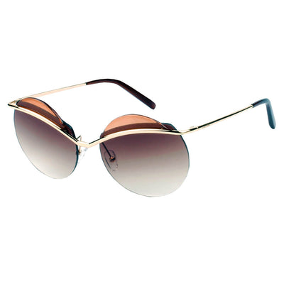 605 Round Browbar Sunglasses - Iris Fashion Inc. | Wholesale Sunglasses and Glasses
