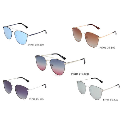 SHIVEDA-PJ701 - Women Round Polarized Cat Eye Sunglasses - Iris Fashion Inc. | Wholesale Sunglasses and Glasses
