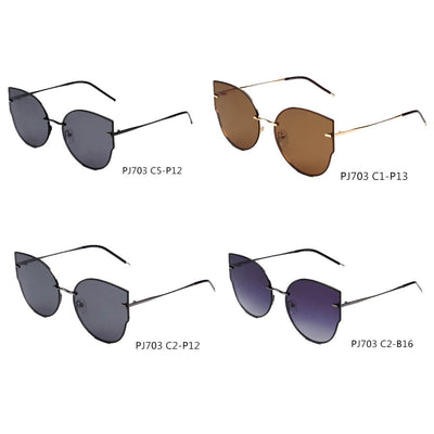 SHIVEDA-PJ703 - Women Polarized Round Cat Eye Sunglasses - Wholesale Sunglasses and glasses