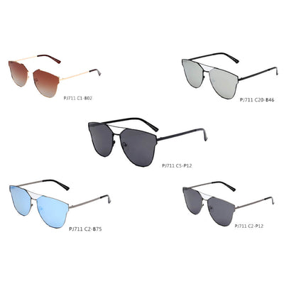 SHIVEDA-PJ711 - Women Polarized Round Cat Eye Sunglasses - Wholesale Sunglasses and glasses
