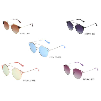 SHIVEDA-PJ714 - Women Round Polarized Fashion Sunglasses - Iris Fashion Inc. | Wholesale Sunglasses and Glasses