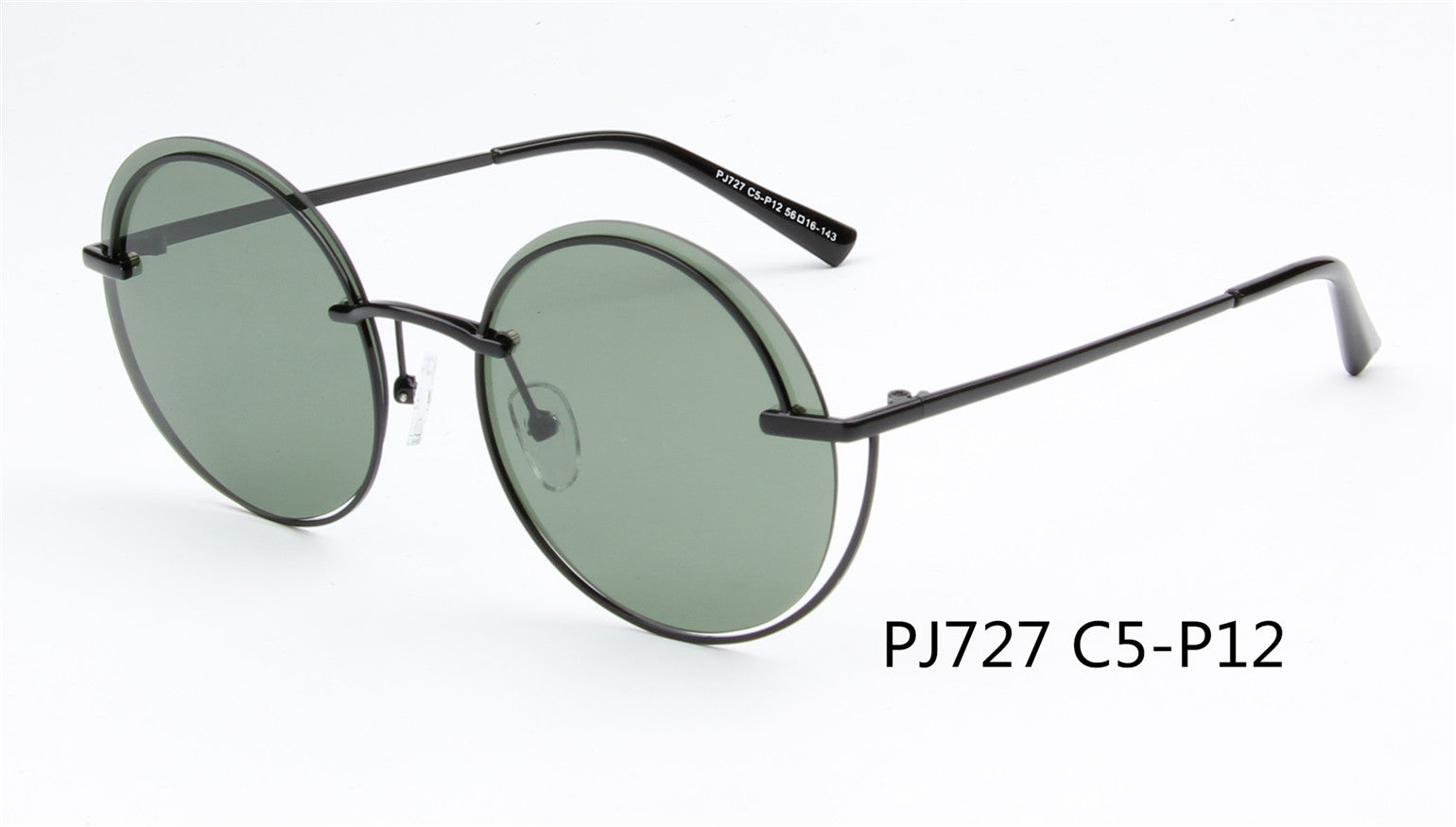 SHIV-PJ727 - Women Round Polarized Fashion Sunglasses
