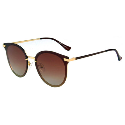 SHIVEDA-PJ736 - Classic Round Cat Eye Polarized Fashion Sunglasses