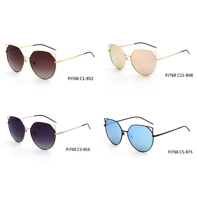 SHIVEDA-PJ768 - Women Polarized Round Cat Eye Sunglasses - Iris Fashion Inc. | Wholesale Sunglasses and Glasses