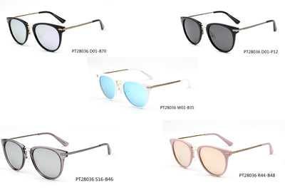 SHIVEDA-PT28036- Women Polarized Round Fashion Sunglasses - Iris Fashion Inc. | Wholesale Sunglasses and Glasses