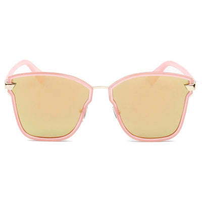 D38 Indie Fashion Flat Lens Toast Frame Sunglasses - Iris Fashion Inc. | Wholesale Sunglasses and Glasses