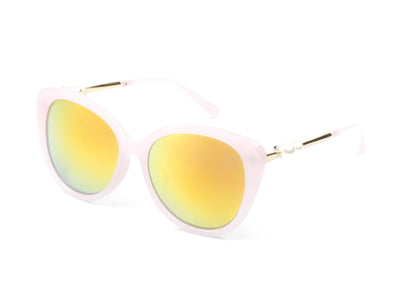 D50 - Deluxe Round Pearl Hinged Cat Eye Sunglasses - Iris Fashion Inc. | Wholesale Sunglasses and Glasses
