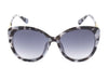 E30A Deluxe Thick Rim Cat Eye Sunglasses w/ Floral Hinge - Wholesale Sunglasses and glasses here we show