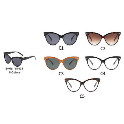 S1024 - Women Round Cat Eye Sunglasses - Iris Fashion Inc. | Wholesale Sunglasses and Glasses