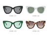 S1061 Women Round Cat Eye Sunglasses - Wholesale Sunglasses and glasses