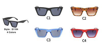 S1104 - Women Cat Eye Fashion Sunglasses - Iris Fashion Inc. | Wholesale Sunglasses and Glasses