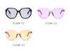 S1108 Women Geometric Round Oversized Fashion Sunglasses - Wholesale Sunglasses and glasses