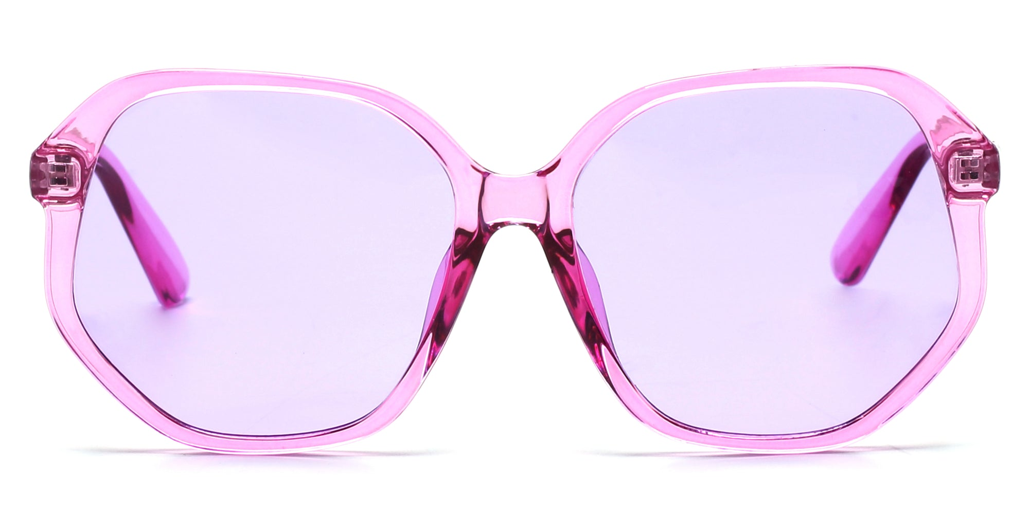 S1108 - Women Geometric Round Oversized Fashion Sunglasses - Wholesale Sunglasses and glasses