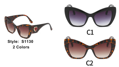S1130 - Women High Pointed Oversize Cat Eye Sunglasses - Iris Fashion Inc. | Wholesale Sunglasses and Glasses