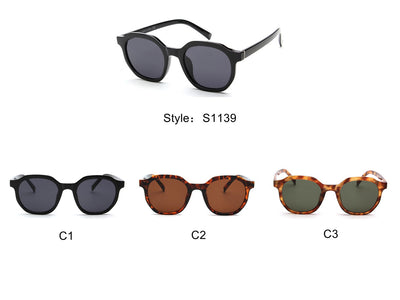 S1139 - Classic Retro Vintage Round Unisex Fashion Sunglasses - Iris Fashion Inc. | Wholesale Sunglasses and Glasses