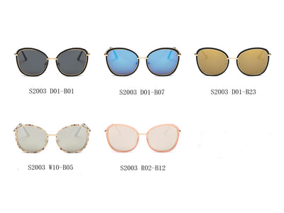 S2003 - Women Round Cat Eye Oversize Sunglasses - Wholesale Sunglasses and glasses