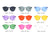 S2005 Hipster Translucent Monochromatic Sunglasses