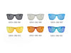 S2010 Modern Colored Rim Men's Horn Rimmed Sunglasses - Wholesale Sunglasses and glasses