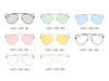 S2021 - Metal Oversize Tinted Lens Aviator Sunglasses - Iris Fashion Inc. | Wholesale Sunglasses and Glasses