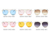 S2034 Unisex Round Aviator Style Sunglasses - Wholesale Sunglasses and glasses