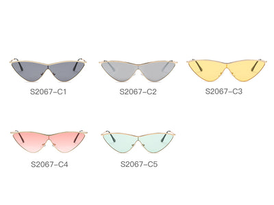 S2067 - Women Metal Cat Eye Sunglasses - Iris Fashion Inc. | Wholesale Sunglasses and Glasses
