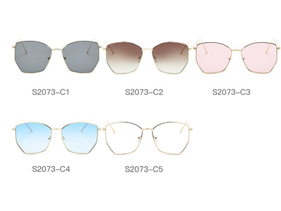 S2073 - Women Oversize Geometric Metal Fashion Sunglasses - Wholesale Sunglasses and glasses