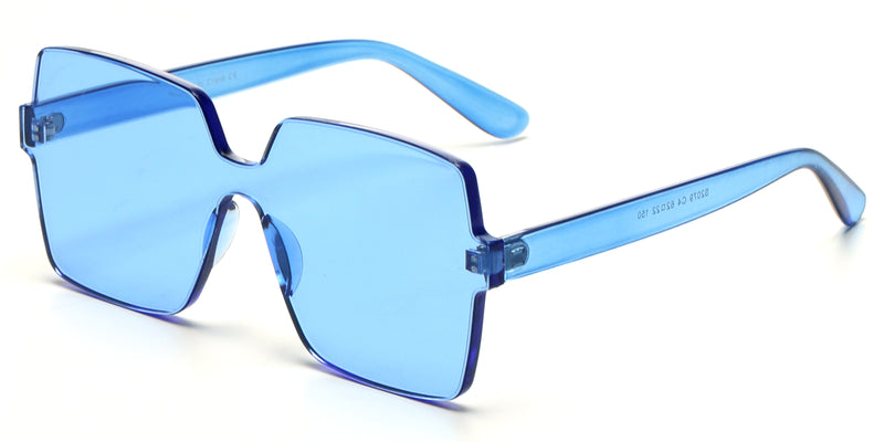 S2079 - Retro Flat Top Square Oversize Sunglasses - Iris Fashion Inc. | Wholesale Sunglasses and Glasses