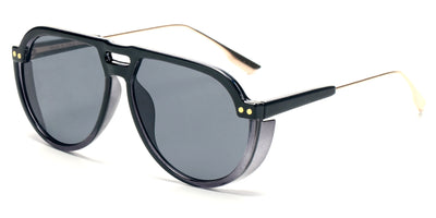 S2080 - Modern Round Aviator Fashion Sunglasses - Iris Fashion Inc. | Wholesale Sunglasses and Glasses