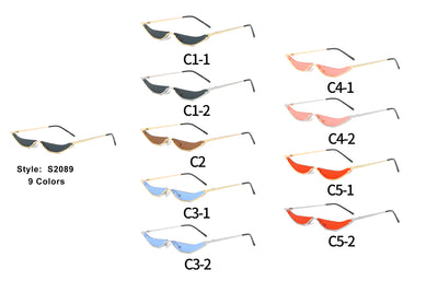 S2089 - Women Slim Cat Eye Fashion Sunglasses - Iris Fashion Inc. | Wholesale Sunglasses and Glasses