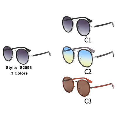 S2096 - Unisex Round Fashion Sunglasses - Wholesale Sunglasses and glasses