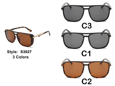 S3027 - Retro Vintage Polarized Square Fashion Sunglasses - Wholesale Sunglasses and glasses