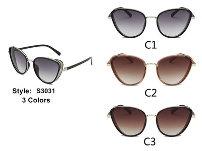S3031 - Women Cat Eye Fashion Sunglasses - Iris Fashion Inc. | Wholesale Sunglasses and Glasses
