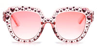 S5003 Women Round Cateye Rhinestone Fashion Sunglasses - Wholesale Sunglasses and glasses