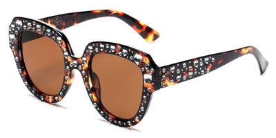 S5003 - Women Round Cateye Rhinestone Fashion Sunglasses - Iris Fashion Inc. | Wholesale Sunglasses and Glasses