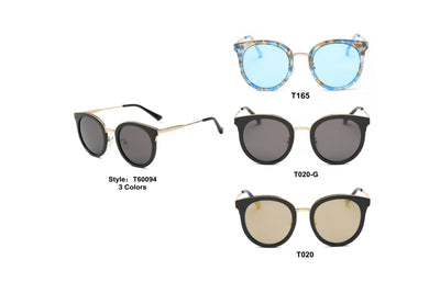 PRSR-T60094 - Women Round Cat Eye Polarized Sunglasses - Iris Fashion Inc. | Wholesale Sunglasses and Glasses