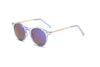 S1001 - Modern Round P3 Golden Mirrored Lens Sunglasses - Iris Fashion Inc. | Wholesale Sunglasses and Glasses