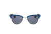S2001 - Classic Half Frame Round Cat Eye Sunglasses - Iris Fashion Inc. | Wholesale Sunglasses and Glasses