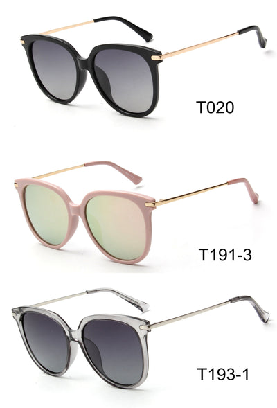 LAT-T30042 - Women Classic Polarized Round Fashion Sunglasses - Iris Fashion Inc.