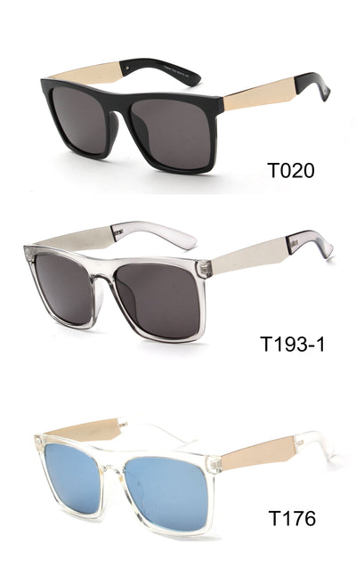 LAT-T30046 - Unisex Retro Square Polarized Sunglasses - Iris Fashion Inc. | Wholesale Sunglasses and Glasses