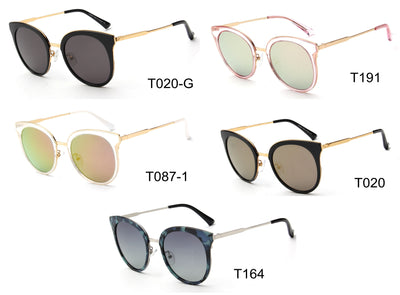 LAT-T30048 - Women Polarized Round Cat Eye Sunglasses - Iris Fashion Inc. | Wholesale Sunglasses and Glasses