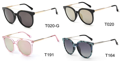 LAT-T30055 - Women Round Cat Eye Polarized Sunglasses - Iris Fashion Inc. | Wholesale Sunglasses and Glasses