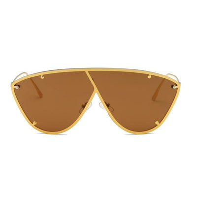 58127 - Metal Flat Top Oversize Women Fashion Sunglasses - Iris Fashion Inc. | Wholesale Sunglasses and Glasses