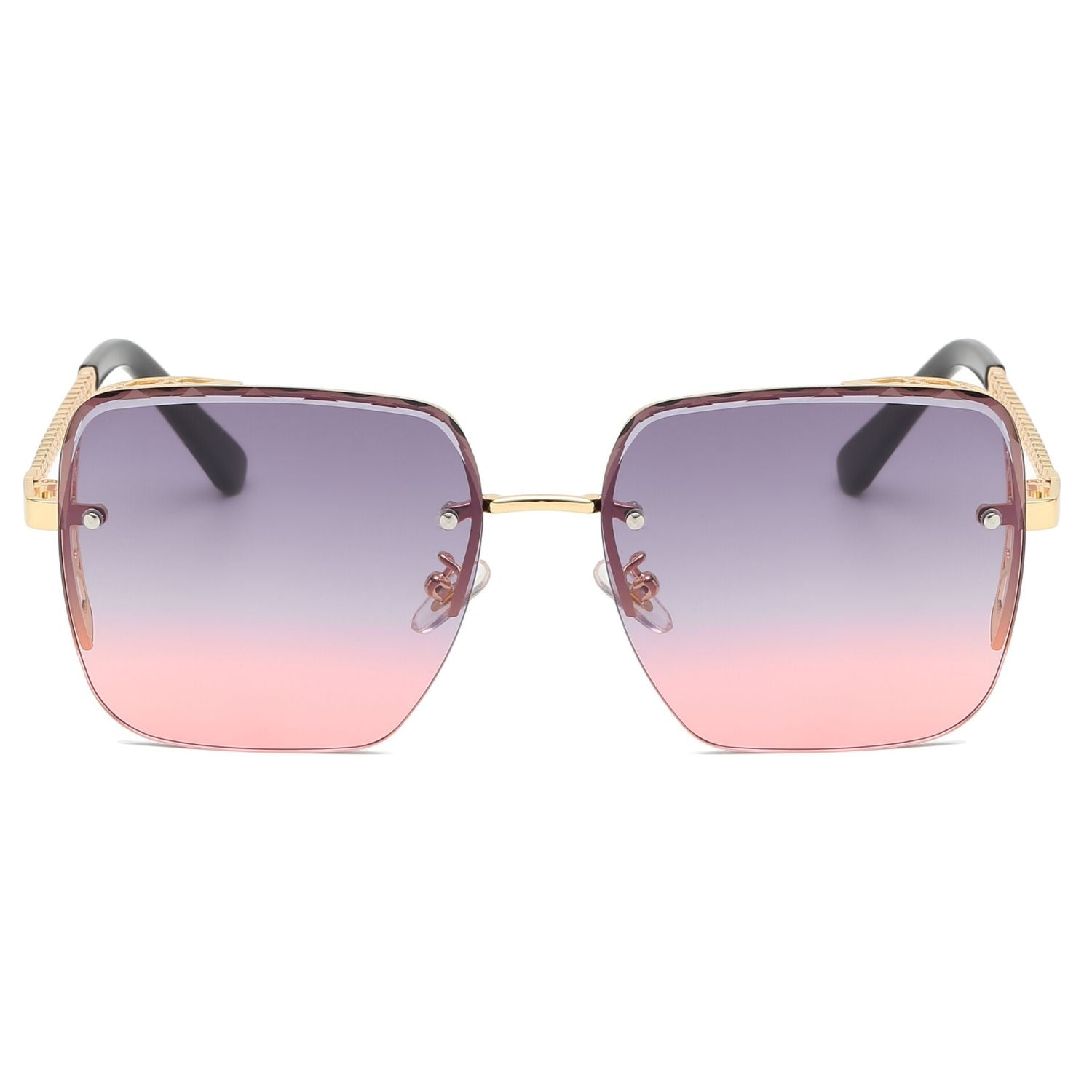 58160 - Women Flat Top Square Anti-Reflective Tinted Fashion Sunglasses
