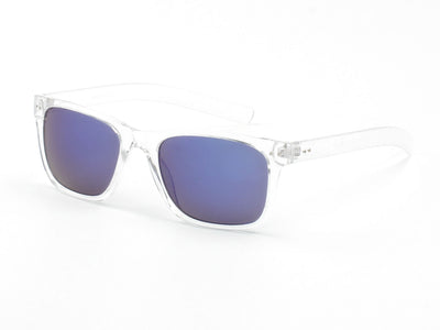 E18 - Classic Rectangular Mirrored Lens Sunglasses - Iris Fashion Inc. | Wholesale Sunglasses and Glasses
