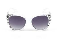 E30A Deluxe Thick Rim Cat Eye Sunglasses w/ Floral Hinge - Wholesale Sunglasses and glasses
