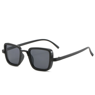 Classic Square Retro Vintage Unisex Fashion Sunglasses - Black