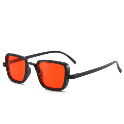Classic Square Retro Vintage Unisex Fashion Sunglasses - Red